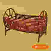 Rattan Cylinder Magazine Rack