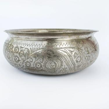 Hand Crafted Mixed Metal Distressed Vintage Etched Bowl / Dish by PortlandRevibe