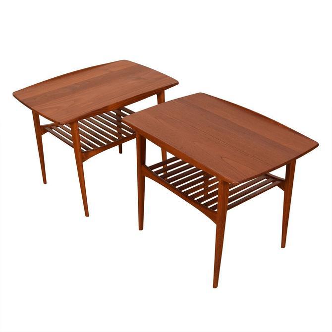 Pair Solid-Teak Tove & Edvard Kindt-Larsen End Tables