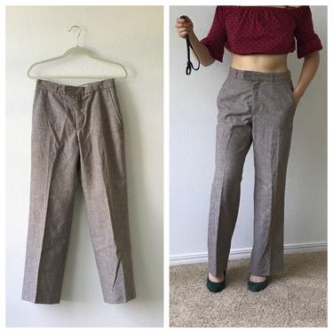 Vintage YSL Yves Saint Laurent Wool Trousers 1970's small by honeycombvintage