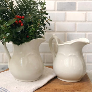 Antique Ironstone Pitcher - two available by AnticaMarket
