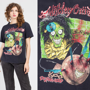 Vintage 1989 Motley Crue Dr. Feelgood Tour Shirt - Large | 80s Concert Tee Pushead Artwork Graphic Band T Shirt by FlyingAppleVintage
