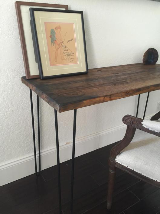 Burned Edge Wood Desk by UmbuzoRustic