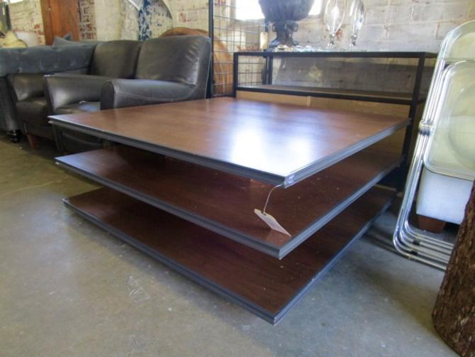 MODERN SQUARE THREE TIER COFFEE TABLE