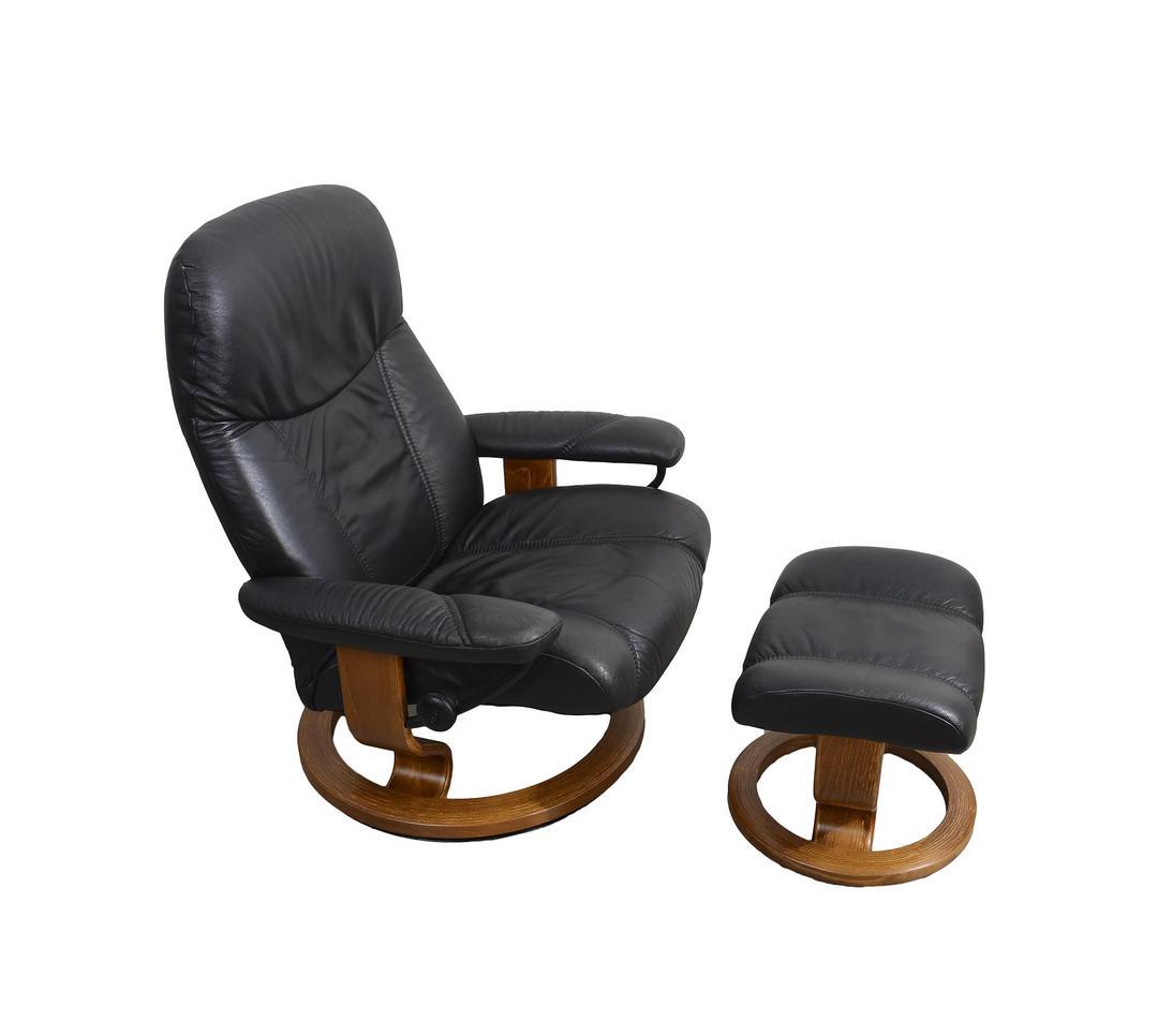 Ekornes Stressless Reclining Chair Amp Ottoman Black Leather