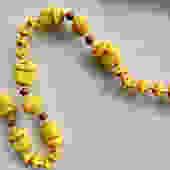 Egyptian Revival Max Neiger Scarab Czech Glass Necklace by LegendaryBeast