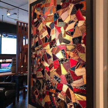 Framed Crazy Quilt