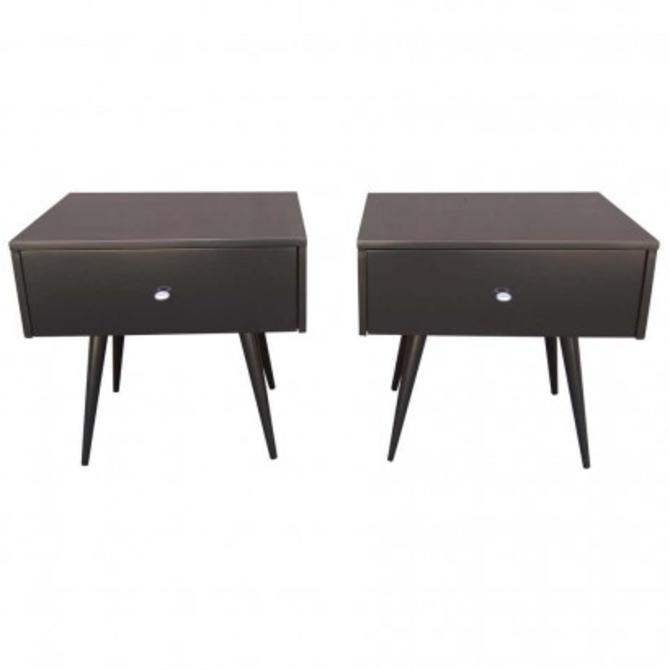 Pair of Ebonized Planner Group Side Tables by Paul McCobb for Winchendon