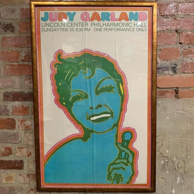 Judy Garland 1968 performance, original poster