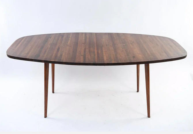 Mid Century MODERN WALNUT Butcher Block Dining TABLE by CIRCA60