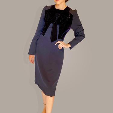 Adele Simpson Velvet Bow Dress by TheKitVintage