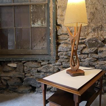 Mid century table lamp Danish modern table mid century modern lamp by VintaDelphia