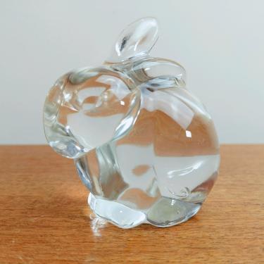 Vintage Fenton Clear Glass Figurine 5162 | Bunny Bunnie Rabbit | Art Glass by TheFeatheredCurator