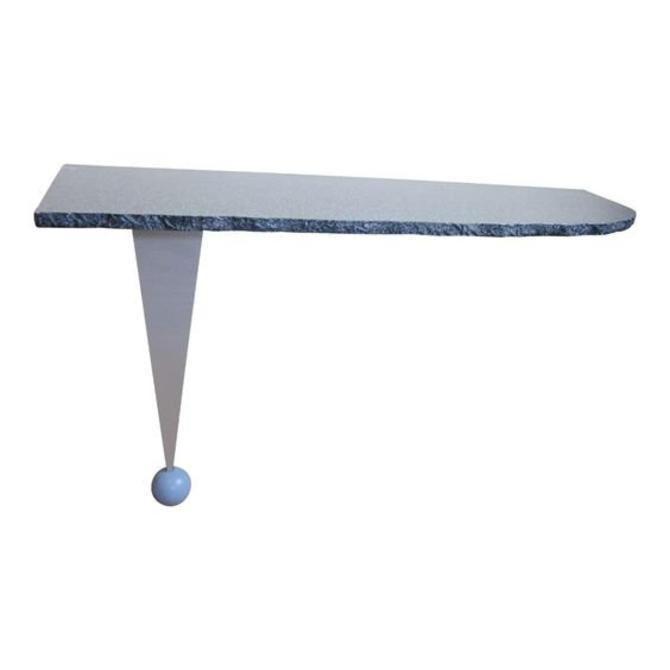 Vintage Postmodern Custom Made Memphis Design One-Legged Console Table by LazyDogAntiqueStore