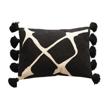 Monochrome Cotton Lumbar Pillow