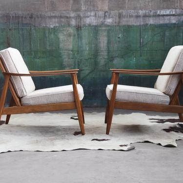GORGEOUS Sculptural Mid Century Folke Ohlsson Kofod Larsen style Danish Modern Lounge Chair stunning Wood (PAIR available, sold individually by CatchMyDriftVintage
