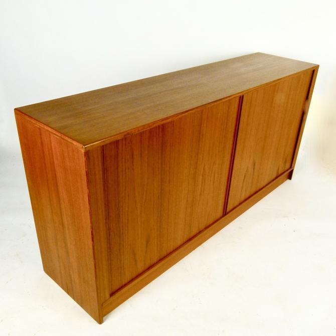 C.1970 Teak Tambour Door Credenza / Dresser