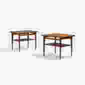 Pair Finn Juhl Danish teak side/ end tables for France & Son Midcentury Modern