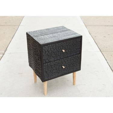 Charred Bed Side Table