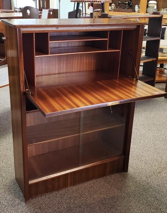 Item #R122 Danish Modern Rosewood Drop Front Desk c.1960s