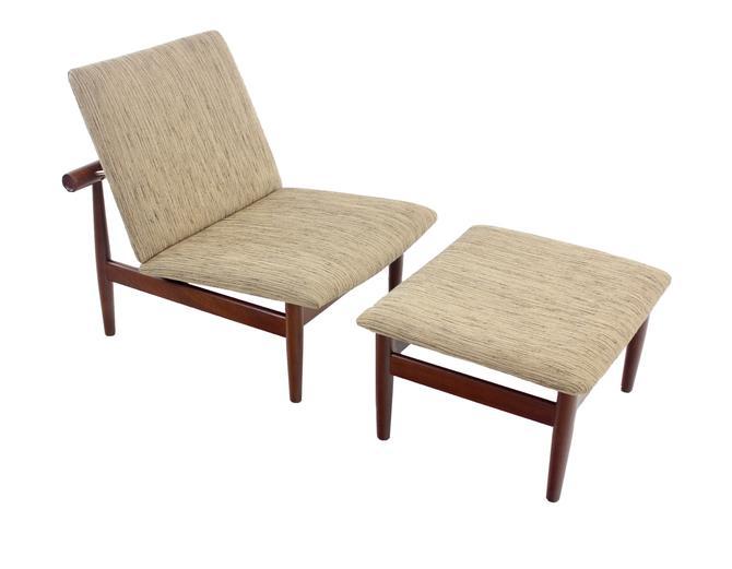 """Rare Scandinavian Modern """"Japan"""" Chair & Ottoman by Finn Juhl"""