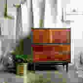 Mid Century Dresser, Mid Century Tallboy, Walnut Dresser by MarthaLeoneDesign