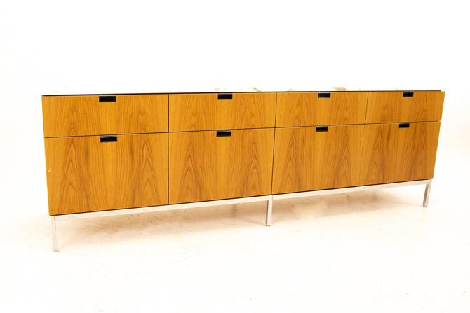 Florence Knoll Mid Century Modern White Marble Top Sideboard Credenza - mcm by ModernHill