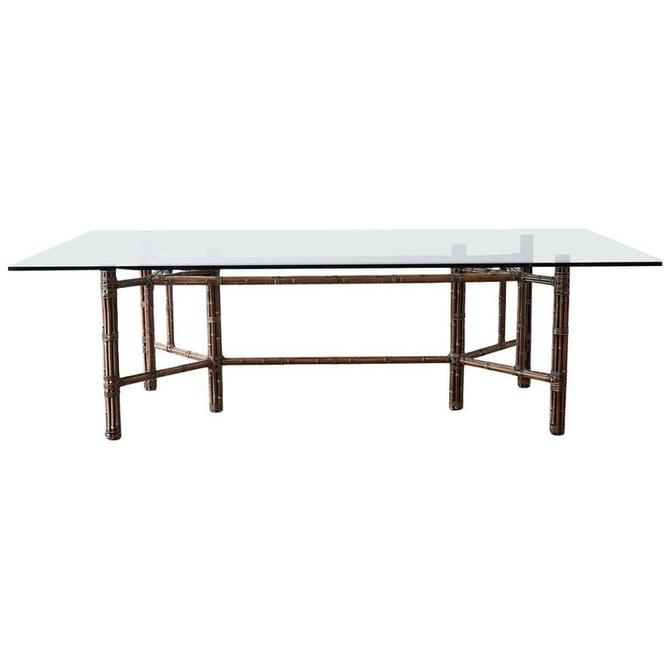 McGuire Organic Modern Bamboo Rattan Wrapped Dining Table by ErinLaneEstate