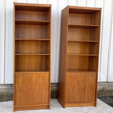 Pair Danish Modern Teak Bookcases by secondhandstory