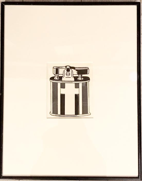 "Black and White Print ""Ronson Lighter"""