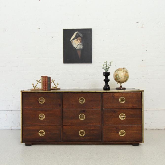 Vintage Bassett Campaign Dresser