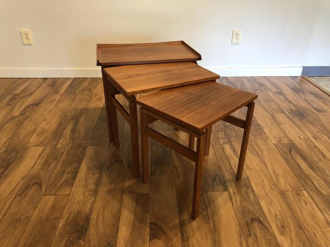 Moreddi Danish Teak Nesting Tables by Vintagefurnitureetc