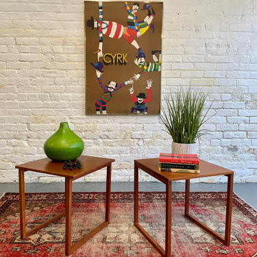 DANISH Mid Century Modern TEAK Cube / End TABLES / Nesting Tables by Kai Kristiansen by CIRCA60