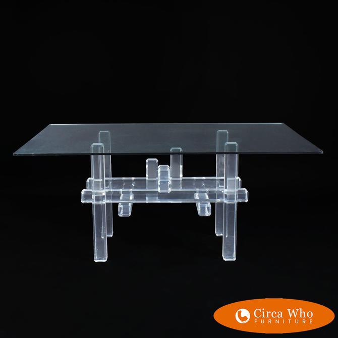 Lucite Skyscraper Dining Table