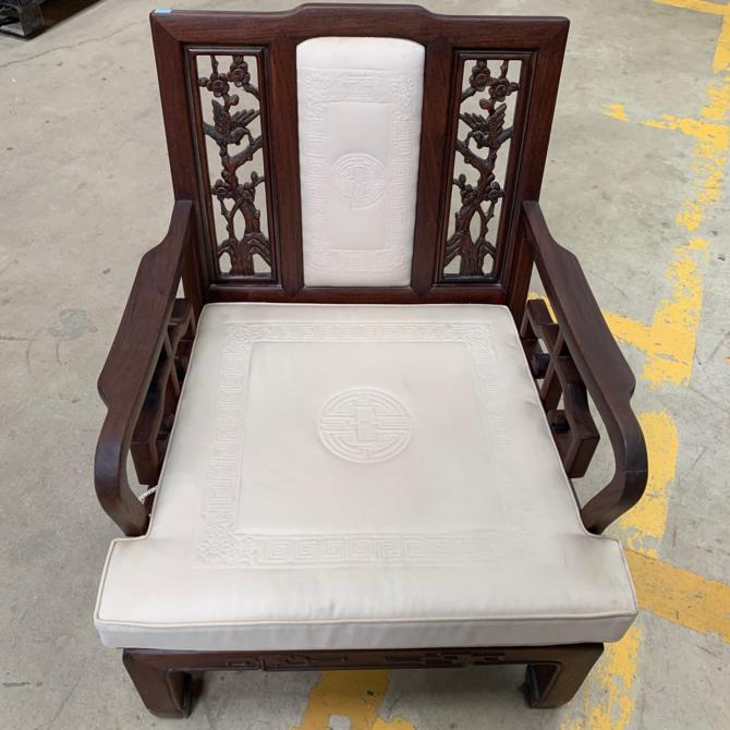 Vintage Carved Armchair Made in Thailand