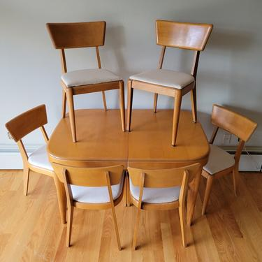 Heywood Wakefield Mid Century Modern Dining Table and Six Chairs by WrightFindsinMCM
