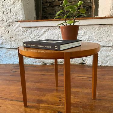Mid century end table Danish modern side table mid century accent table by VintaDelphia