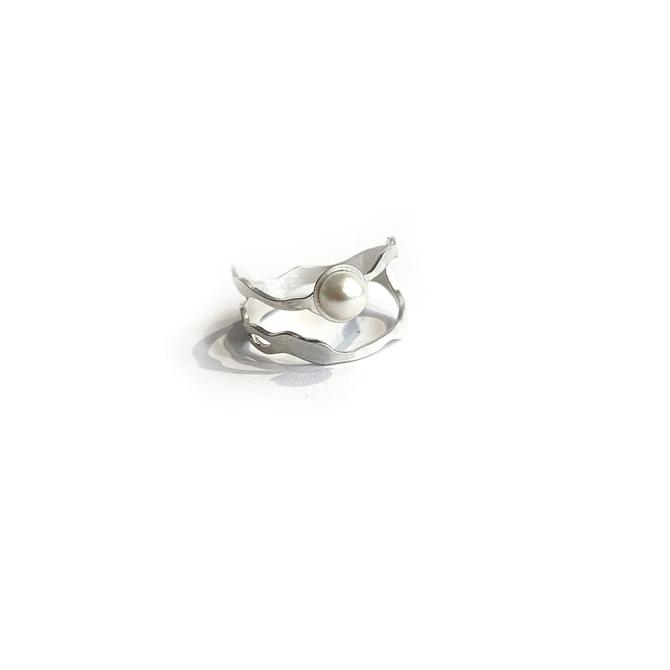 Pearl Seaweed Double Tier Ring