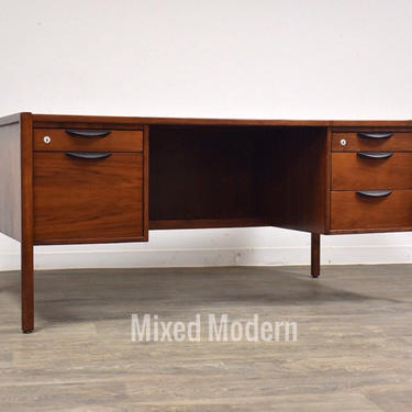 Jens Risom Walnut Mid Century Executive Desk by mixedmodern1