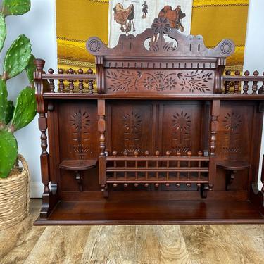 Antique Victorian French Oak Hutch by DesertCactusVintage