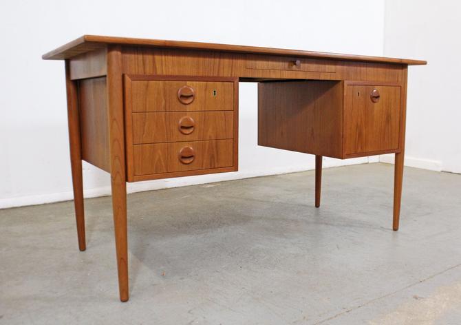 Mid-Century Danish Modern AP Mobler Svestrup J Teak Executive Desk by AnnexMarketplace
