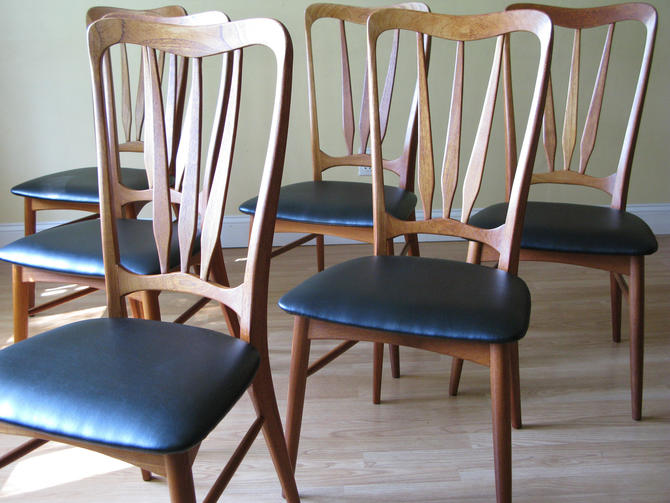 Set of 12 INGRID Koefoeds Hornslet Danish High-back dining side chairs by ASISisNOTgoodENOUGH