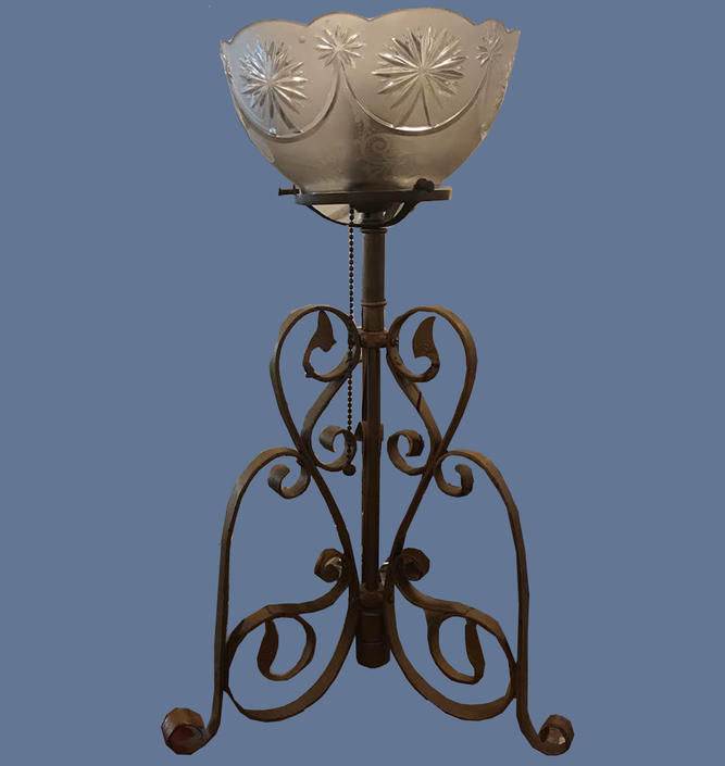 Victorian Wrought Iron Table Lamp
