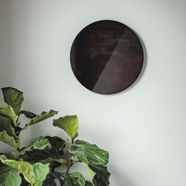 "Totem- ""Stacatto""-Gray/Smoke, Boho Mirror, Tinted Mirror, Modern Mirror, Circle Mirror, Gray Smoke Mirror by shopcandiceluter"