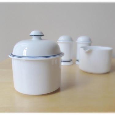 Dansk sugar bowl with lid Christianshavn bistro blue made in portugal by ionesAttic