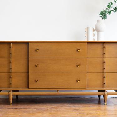 Vintage Mid Century Kent Coffey Sequence Lowboy 9-Drawer Dresser / Credenza by blinkmodern