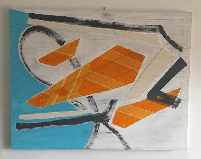 Large Original Mixed Media Modern Art on Canvas by ModandOzzie