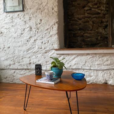 Mid century coffee table guitar pick coffee table mid century Danish modern occasional table by VintaDelphia