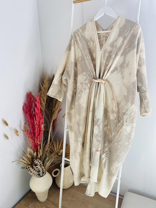 LIMITED EDITION: O'Keeffe Dress, Textured Cotton Tie-Dye FINAL SALE