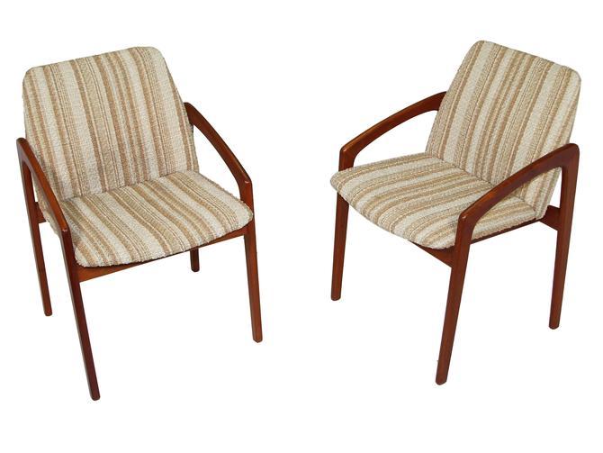 Set Of 2 Danish Modern Chairs By Kai Kristiansen by RetroPassion21